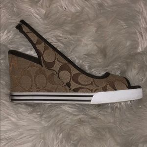 Coach wedges size 7